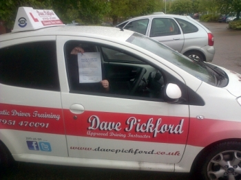 Massive Congratulations to a slightly camera shy Laura Birchall who passed her Automatic Driving test at Norwich MPTC<br />