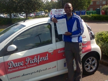 Congratulations to Kofi who passed his Automatic driving test at Norwich MPTC Well done on a great drive we kept to that tight schedule achieved the deadline set remember to Stay Safe