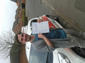 Congratulations to Julian Pye who passed his Automatic Driving Test at Norwich MPTC well done on a very good drive as commented by the examiner<br />