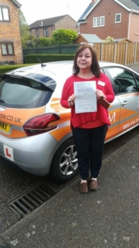 Congratulations to Karen who Passed her Automatic Driving Test this morning with a great drive.<br />