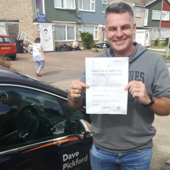 Congratulations to Simon who Passed his Automatic Driving Test this morning at #Clacton