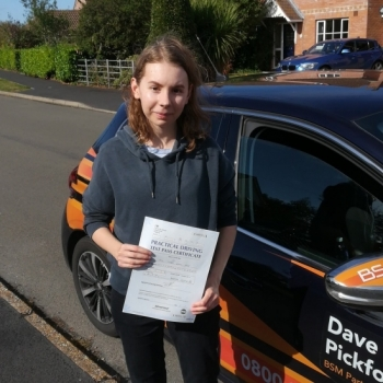 Congratulations to Izzy who Passed her Automatic Driving Test this morning<br />