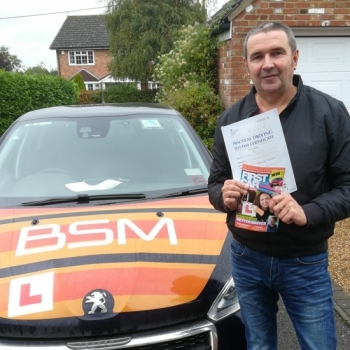Congratulations to Steve who Passed his Automatic Driving Test this morning.<br />