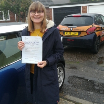 Congratulations to Alexandra who Passed her Automatic Driving Test this morning at Colchester.<br />