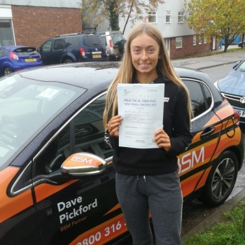 Congratulations to Raya who Passed her Automatic Driving Test this morning at Colchester.<br />