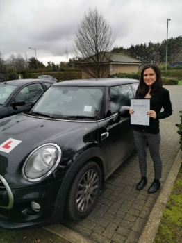 Congtatulations to Dyana who Passed her Automatic Driving Test this afternoon at Colchester.<br />