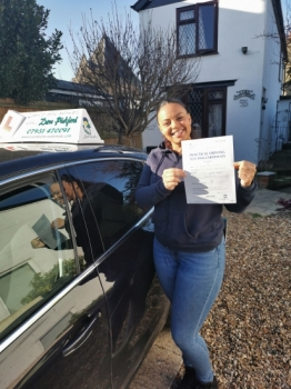 Congratulations to Sharlene who Passed her Automatic Driving Test this afternoon at Colchester in #Bumble<br />