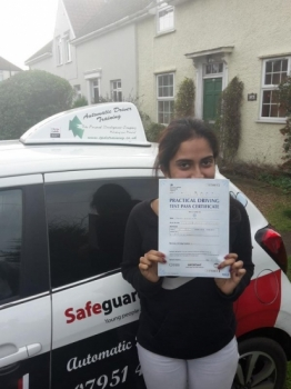 Congratulations to Jeslin #JJ who passed her Automatic Driving Test this morning at #Norwich MPTC in #Bumble <br />
