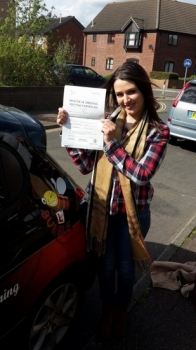 Congratulations to Aishah on passing her Automatic Driving Test at Norwich MPTC in ‪#‎Bumble‬<br />