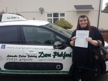 Congratulations to Amanda who also passed her Automatic Driving Test this morning at #Norwich in #Bumble #TPDC<br />