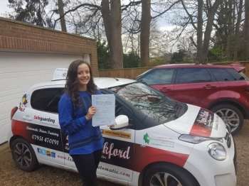 Congratulations to Amber on Passing her Automatic Driving Test this afternoon at #Norwich MPTC in #TPDCBumble <br />