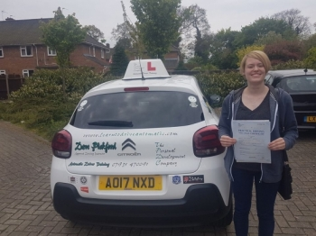 Congratulations to Amy who passed her Automatic Driving Test this morning at #Norwich Jupiter Road in #TPDCBumble <br />