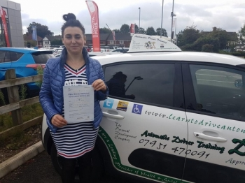 Congratulations to Anna who passed her Automatic Driving Test this morning at #Norwich in #Bumble #TPDC<br />