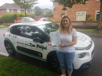 Congratulations to Ashleigh who passed on this lovely wet morning at #Norwich in #Bumble<br />