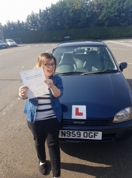 Congratulations to Becky who passed he Automatic Driving Test this morning at #Norwich not in #Bumble but her very own #Daisy <br />