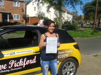 Congratulations to Chantelle who passed her Automatic Driving Test at Norwich MPTC this morning in Bumble<br />
