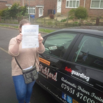 Congratulations to Charlene who passed her Automatic Driving at Norwich MPTC in ‪#‎Bumble‬<br />