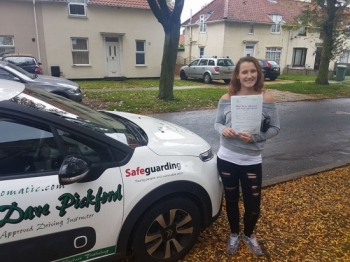 Congratulations to Charli who passed her Automatic Driving Test this morning at #Norwich in #Bumble #TPDC <br />