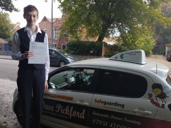 Congratulations to Connor H on Passing his Automatic Driving Test this afternoon at #Norwich MPTC in #TPDCBumble <br />