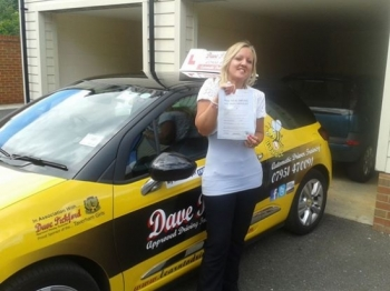 Congratulations to Donna Bush who passed her Automatic Driving Test at Norwich MPTC in Bumble Now how did the examiner phrase it oh yeah thats it a great drive<br />