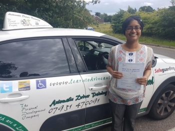 Congratulations to Elizabeth who passed her Automatic Driving Test this afternoon at #Norwich Jupiter Road in #Bumble<br />