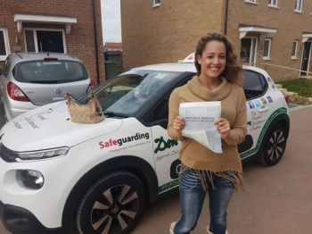 Congratulations to Emily who passed her Automatic Driving Test this morning at #Norwich in #Bumble #TPDC<br />