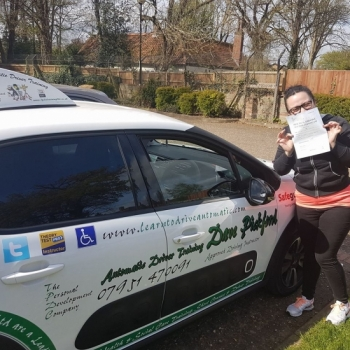 Congratulations to Emma who passed this morning at #Norwich Jupiter in #TPDCBumble<br />