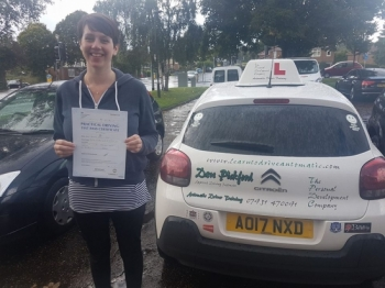Congratulations to Felicity who passed her Automatic Driving Test this morning at #Norwich in #Bumble #TPDC <br />