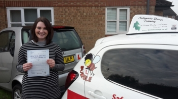 Congratulations to Gemma who passed her Automatic Driving Test this morning at #Norwich MPTC in #Bumble <br />
