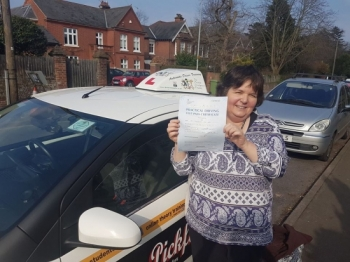 Congratulations to Jacqui on passing at #Norwich Jupiter Road Test Centre in #Bumble<br />