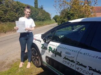 Congratulations to Jade who passed her Automatic Driving Test this afternoon at #Norwich Jupiter Road #Testcentre in #TPDCBumble <br />