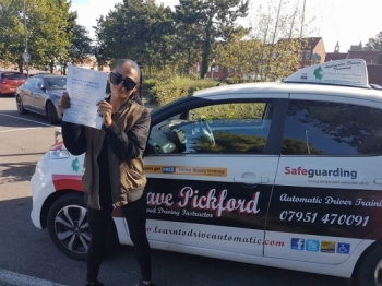 Congratulations to Jasmine on Passing her Automatic Driving Test this morning at #Norwich MPTC in #TPDCBumble <br />