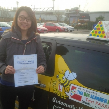 Congratulations to Jenna who passed her Automatic Driving Test this morning at Norwich MPTC in #Bumble<br />