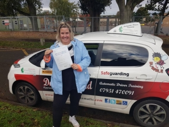 Congratulations to a very happy Jenni Beal on Passing her Automatic Driving Test this morning at #Norwich MPTC in #TPDCBumble <br />