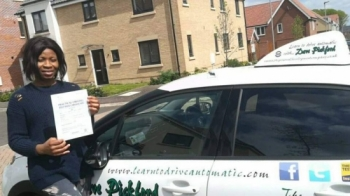 Congratulations to Jennifer who passed her Automatic Driving Test this morning at #Norwich in #Bumble #TPDC<br />