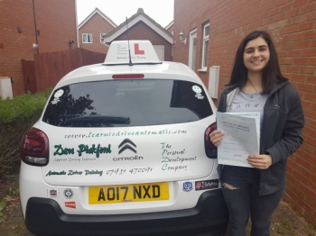 Congratulations to Jess who passed her Automatic Driving Test this afternoon at #Norwich Jupiter Road in #TPDCBumble <br />