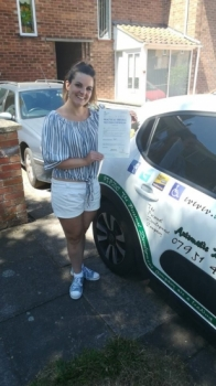 Congratulations to Kerry who Passed her Automatic Driving Test this morning at #Norwich in #Bumble<br />