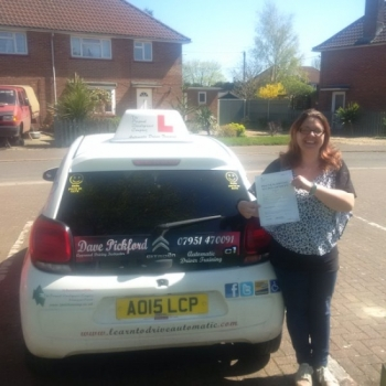 Congratulations to Laura on passing her Automatic Driving Test this morning at ‪#‎Norwich‬ MPTC in ‪#‎Bumble‬<br />