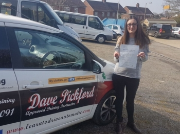 Congratulations to Laura M who passed her Automatic Driving Test at the #Norwich Jupiter Road Test Centre in #Bumble<br />