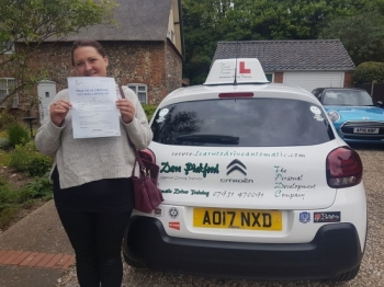 Congratulations to Laura who passed her Automatic Driving Test this morning at #Norwich Jupiter Road in #TPDCBumble <br />