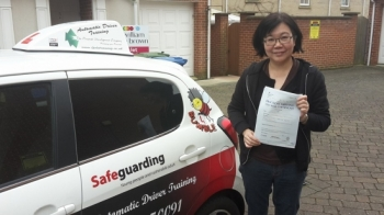 Congratulations to Lee Pheng on passing her Automatic Driving Test this morning at ‪#‎Norwich‬ MPTC in ‪#‎Bumble‬ <br />