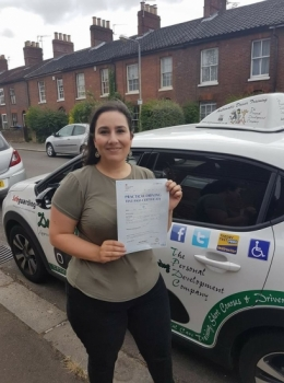 Congratulations to Leila who passed her Automatic Driving Test this morning at #Norwich Jupiter Road in #Bumble<br />