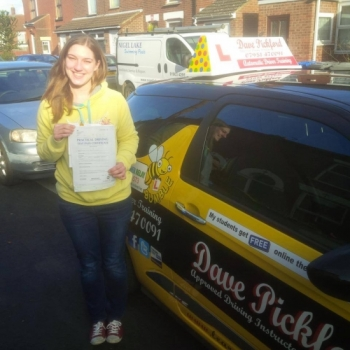 Congratulations to Lisa on passing her Automatic Driving Test at Norwich MPTC in #Bumble this afternoon<br />