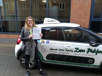Congratulations to Lucy who passed her Automatic Driving Test this morning at #Norwich in #Bumble #TPDC<br />