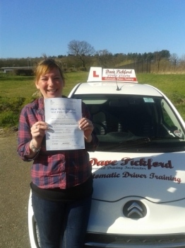 Congratulations to Martine who passed her Automatic Driving Test this morning at Norwich MPTC with a fantastic drive that Pre Test McDonalds brekkie certainly done the trick<br />