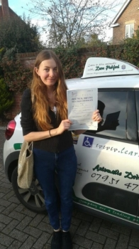 Congratulations to Michaela who Passed her Automatic Driving Test this afternoon at #Norwich in #Bumble<br />