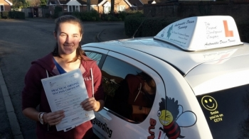 Congratulations to Nat on passing her Automatic Driving Test this afternoon at ‪#‎Norwich‬ MPTC in ‪#‎Bumble‬ ‪#‎TPDC‬ <br />