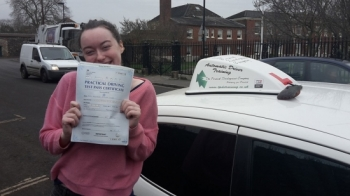 Congratulations to Nellie Corr on passing her Automatic Driving Test this morning at ‪#‎Norwich‬ MPTC in ‪#‎Bumble‬ <br />