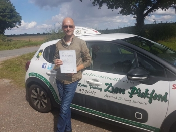 Congratulations to Nick M who passed his Automatic Driving Test this morning at #Norwich in #Bumble #TPDC<br />