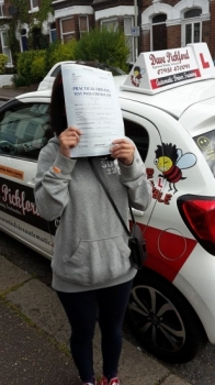 Congratulations to Ni Zhuang on passing her Automatic Driving Test this morning at ‪#‎Norwich‬ MPTC in ‪#‎Bumble‬ <br />